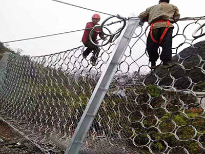 环形防护网施工